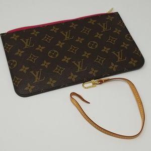 Louis Vuitton Neverfull Pochette Wristlet MM/GM